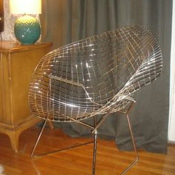 Original 1950's Harry Bertoia large basket chair