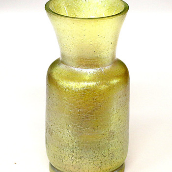 "Art Nouveau Bohemian Loetz Czech"" Silberiris "" Gold Iridescent Glass Vase - Art Glass"