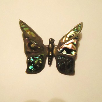 Silver bug! Butterfly, inlaid wants to go to France and live with other bugs! - Fine Jewelry