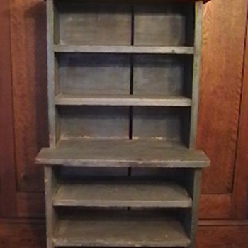 1920's Child's Stepback Cupboard - Furniture