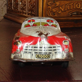 Courtland Toy...Fire Chief Car...Made In Camden, New Jersey In The Thirties By Walter Rudolph Reach