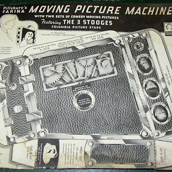 PILLSBURY FARINA 3 STOOGES MOVIE PAPER CUTOUT PROJECTOR  - Movies