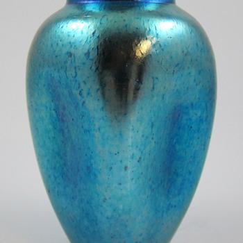 "Loetz Cobalt Silberiris, Prod. Nr. 72 (alt. 2208/4""), 1890 - Art Glass"