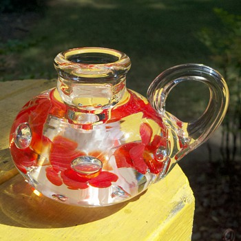 Joe St Clair Candleholder Paperweight - Art Glass