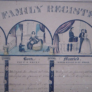 MAINE Hamlin Family Geneology~Early 1800's~1 of 2 sheets~Relation to Hannibal?