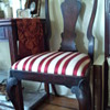 queen anne walnut side chairs