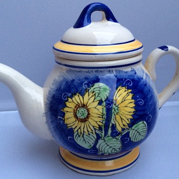 Vintage hand painted teapot