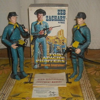 Marx Zeb Zachary Fort Apache Fighters Johnny West - Toys