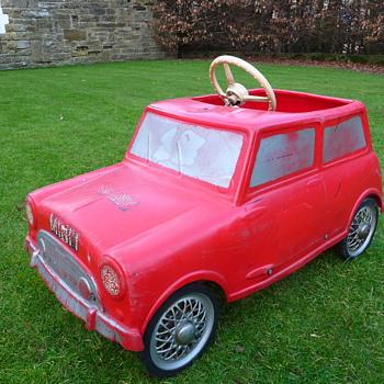 1960s Leeway Mini Cooper Pedal Car