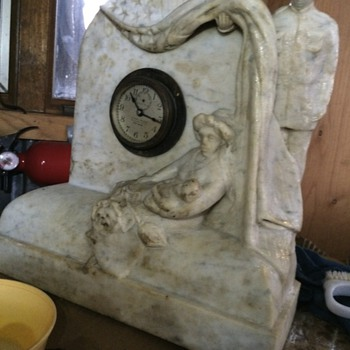 Funerary? Marble? Mourning? Mantel clock? Civil War? WWI? Help!