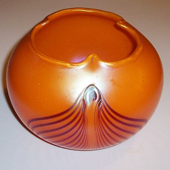 Kralik Pulled Feather Art Nouveau Vase c.1900. - Art Glass