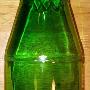 Green glass jar  - Glassware