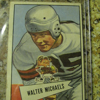 Walter Michaels Rookie Card - Football
