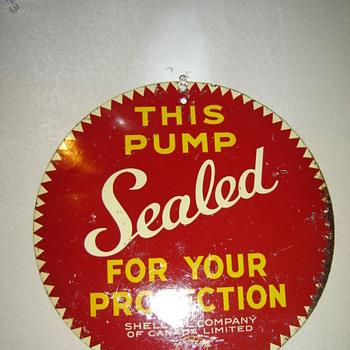 2 sided Shell Pump sign!