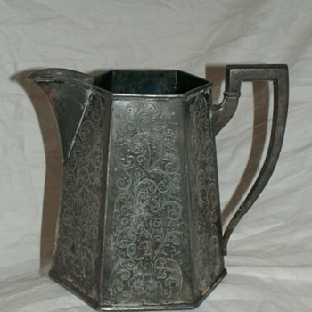 Victorian 1915-1920 Forbes Silver Co. USA Water Jug 908