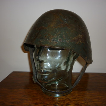 Scarce WWII Greek steel helmet.