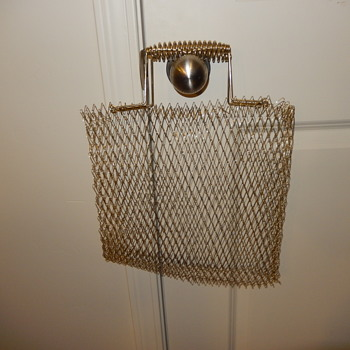 LOOSE WOVEN METAL TOTE BAG