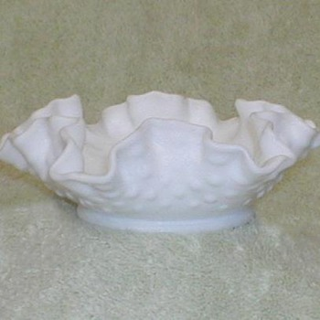 Fenton Hobnail Milkglass Bowl