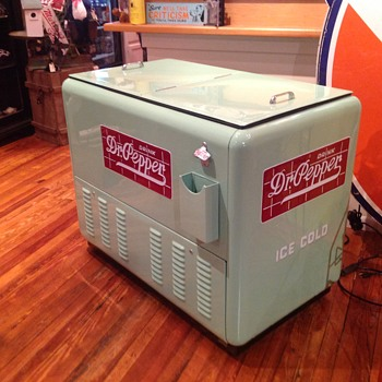 1937 quick cold Dr Pepper cooler
