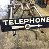 1940's porcelain double sided Telephone sign.