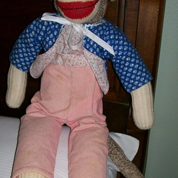 Old sock monkey doll - Dolls