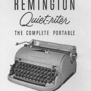 "1952 - Remington ""Quiet-riter"" Typewriter Advertisement - Advertising"