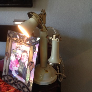 Candlestick Phone that is a Lamp