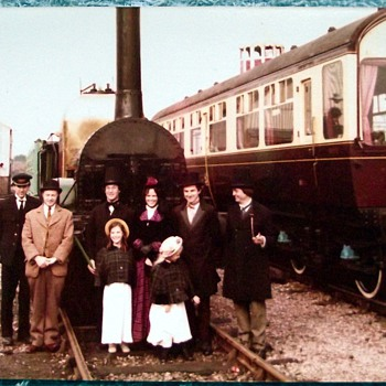1980-birmingham-tyseley railway museum-'lion' steam train. - Railroadiana