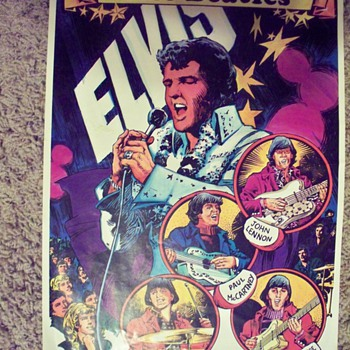 Elvis Presley  The Beatles art print - Music Memorabilia