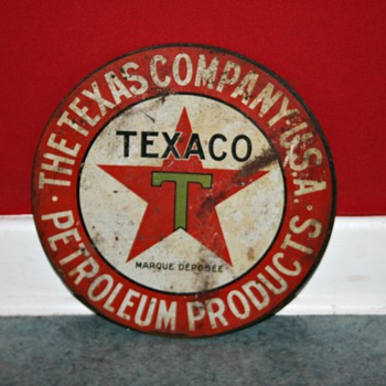texaco tin sign - Petroliana