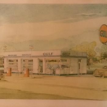 gulf service station drawing ? - Petroliana