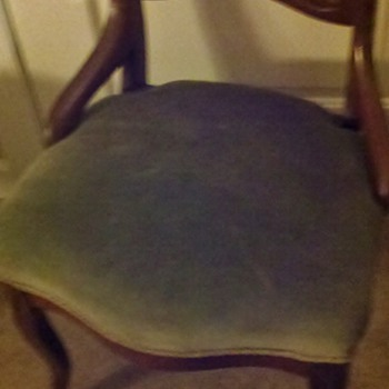 Set (8) of Balloon back dining chairs found at auction. - Furniture