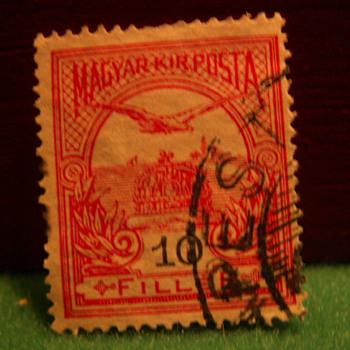 Vintage Budapest 10 Filler Stamp ~ Used - Stamps