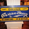 Ocean Breeze Porcelain Soda Sign