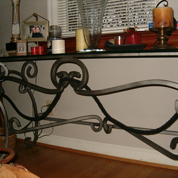 Pulaski Console Table-Iron-Glass