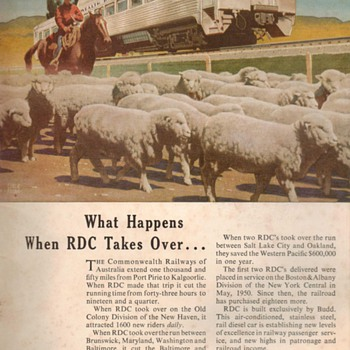 "1953 - Budd Co. RDC Traincars ""Australian Railway"" Advertisement"