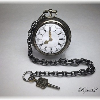 Antique Pocket Watch Chain And Advertising Key - Pocket Watches