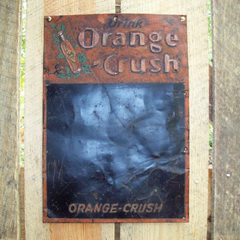 Orange Crush chalk board sign