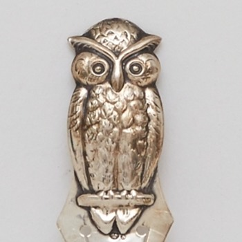 Silver Owl Bookmark (Sweden), ca. 1920