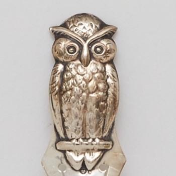 Silver Owl Bookmark (Sweden), ca. 1920