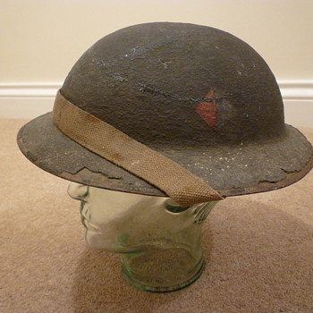 British re issued WWI steel helmet.