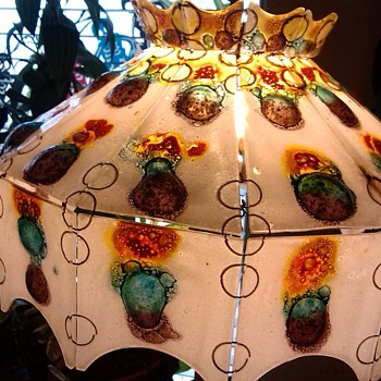 Retro Stain Glass Bubble Lamp Shade