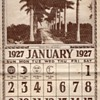 FLORIDA PALMS AND SUNSHINE 1927 CALENDAR