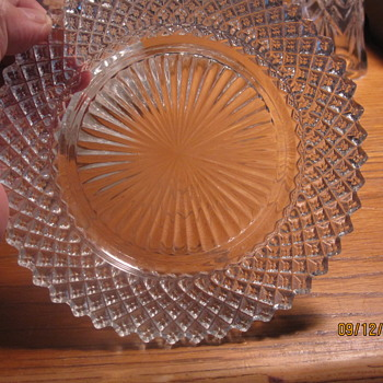 small depression glass diamond pattern plate