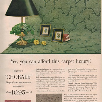 1950 Bigelow Carpet Advertisement - Advertising