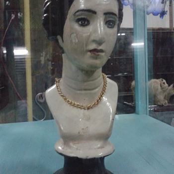 Figurine Bust Ceramic Porcelain Figure Female Lady