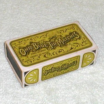 1960's - Ohio Blue Tip Matches - Box