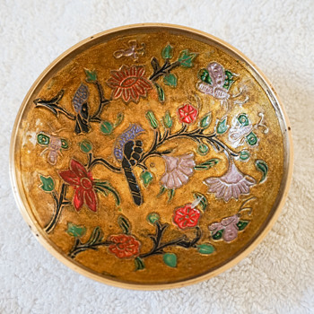 Brass and Enamel Dish