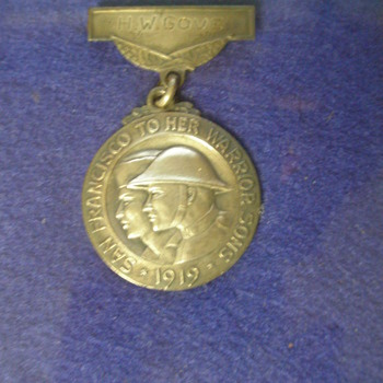 My Grandfathers WW1 Sterling Silver Service Medal - Military and Wartime