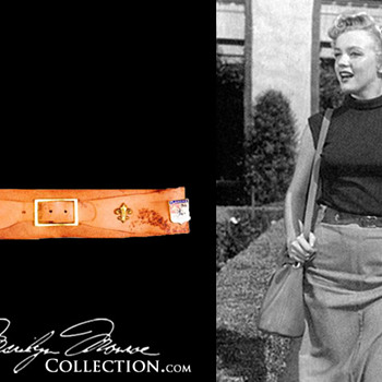 Marilyn Monroe&#039;s Personal Leather Belt